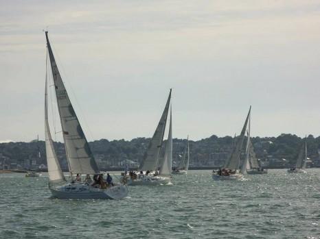 """яхтенный """"траффик"""" в проливе Солент"""