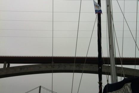 Первый раз прохожу под мостом — стремно!