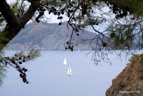 Yachts in Fethiye Bay