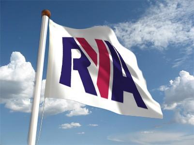 RYA flag waving in wind