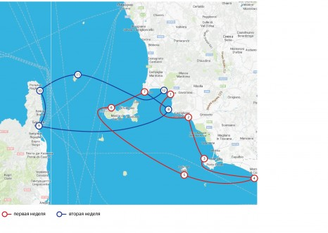 Тоскана-Эльба-Корсика. Машрут двухнедельного яхтенного круиза