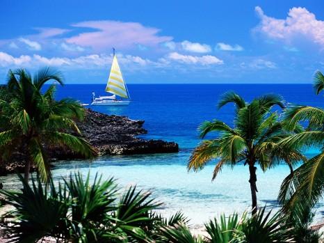 на Багамах