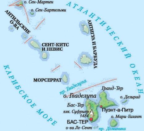 карта района круиза