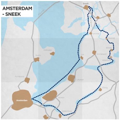 Route-Sneek-naar-Amsterdam-Eng