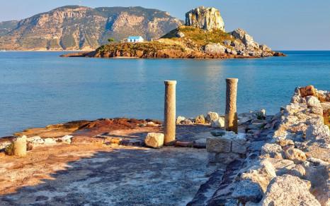 1920_Island Kastri and ruins on Kos