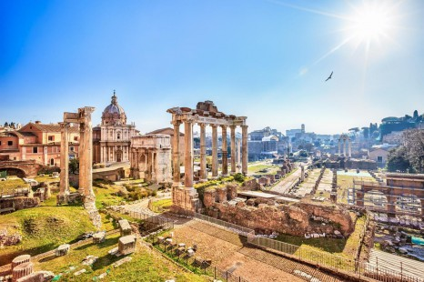 Italy-Rome-Forum-Ruins-Day