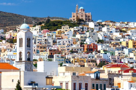 ermoupolis-at-syros-island-against-a-blue-sky