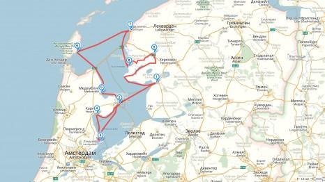 карта голландия фрисландия
